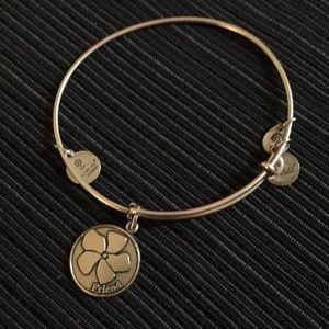 Silver Alex and Ani FRIEND bracelet